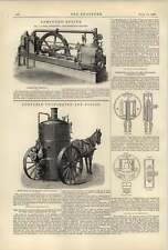 1887 Pulsómetro ingeniería portátil boilerteudloff corthym Manómetro