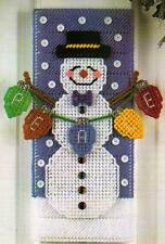 SNOWMAN DOOR HANGER CHRISTMAS PLASTIC CANVAS PATTERN INSTRUCTIONS