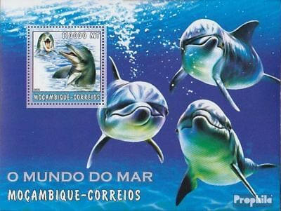 Stamps Never Hinged 2002 World Of Marine Lovely Luster Mozambique Block189 Unmounted Mint