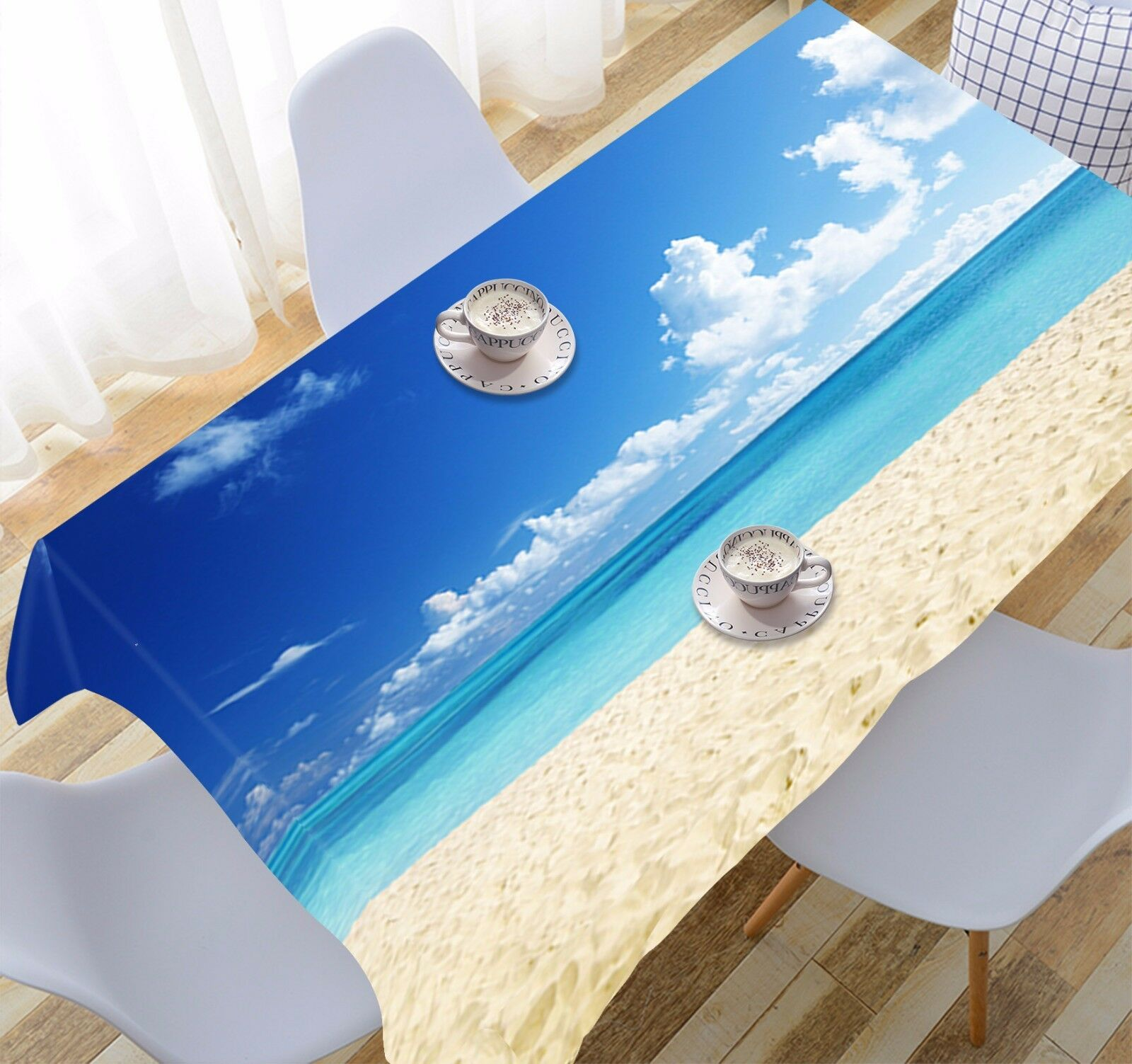 3D Sunny Sea 295 Tablecloth Table Cover Cloth Birthday Party Event AJ WALLPAPER