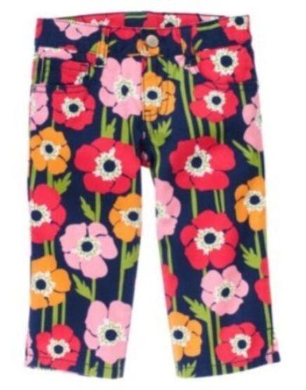 GYMBOREE BLOOMING NAUTICAL POPPY FLOWER CAPRI  PANTS 3 4 5 6 7 8 10 12 NWT