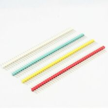 6 Pcs Red 254mm 40 Pin Male Single Row Pin Header Strip New S8