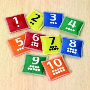 Calming-Autism-Early-Years-Numeracy-NUMBER-amp-DOTS-Bean-Bags-10-Pack-Kids-Toys