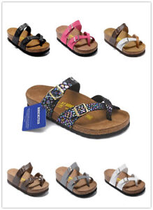 2021new Birkenstock Mayari Birko-Flor Sandals Men's Women's Shoes 36-44