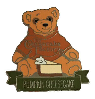 Cheesecake Factory Teddy Bear Pin Pumpkin Cheesecake Pin Herrington Bear A448 Ebay