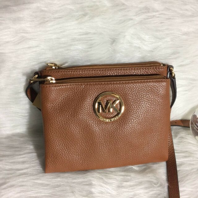 9add48ecfd0dcc Michael Kors Fulton Large Leather Crossbody 35s2gftc3l Brown for ...