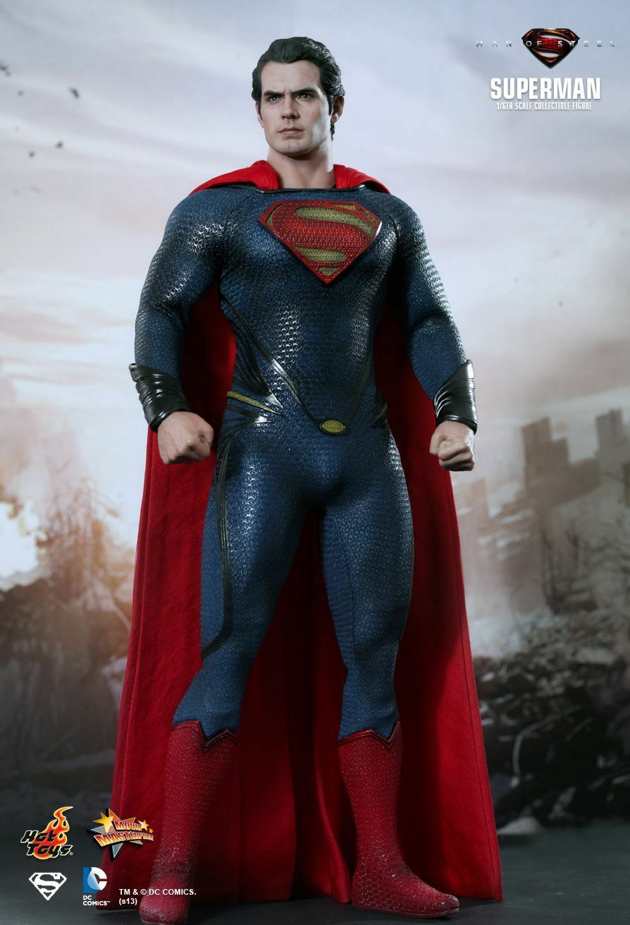 HOT TOYS 1/6 DC MAN OF STEEL MMS200 SUPERMAN KAL-EL MASTERPIECE ACTION FIGURE