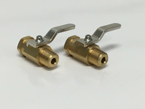 "Carpet Cleaning 1//4/"" Hose Brass Shutoff Valve Set of 2 1000psi"