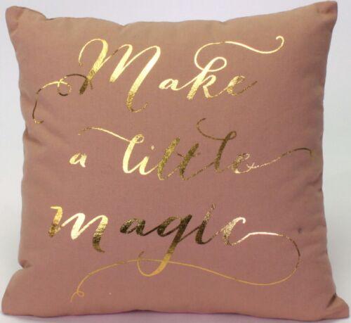 Coussin Taie d/'oreiller 30x30 sort Magic Coussin Housse Décoration Coton Rose Gold nude