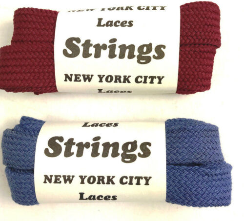 Shoe Laces Fat Flat 45 inch` 2 pair Shoelaces Cotton. New from 80s Vintage