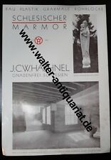Werbeblatt um 1935 Haehnel Marmor Gnadenfrei Schlesien Piława Górna Reklame