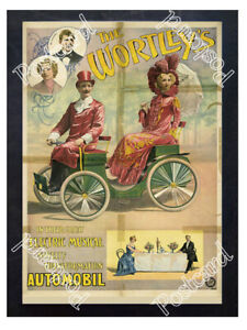 Historic-The-Wortley-039-s-electric-musical-Automobil-1896-Advertising-Postcard