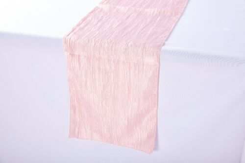 14 x 108 inch Crushed Taffeta Table Runner Blush