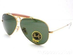 Ray Ban Shooter RB 3138 001 Gold G15 Green New Authentic Sunglasses ... ca4a20b147