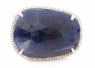 20.74 TCW Natural Sapphire & Diamond Accents Solitaire Ring Size 6.5 14k Gold