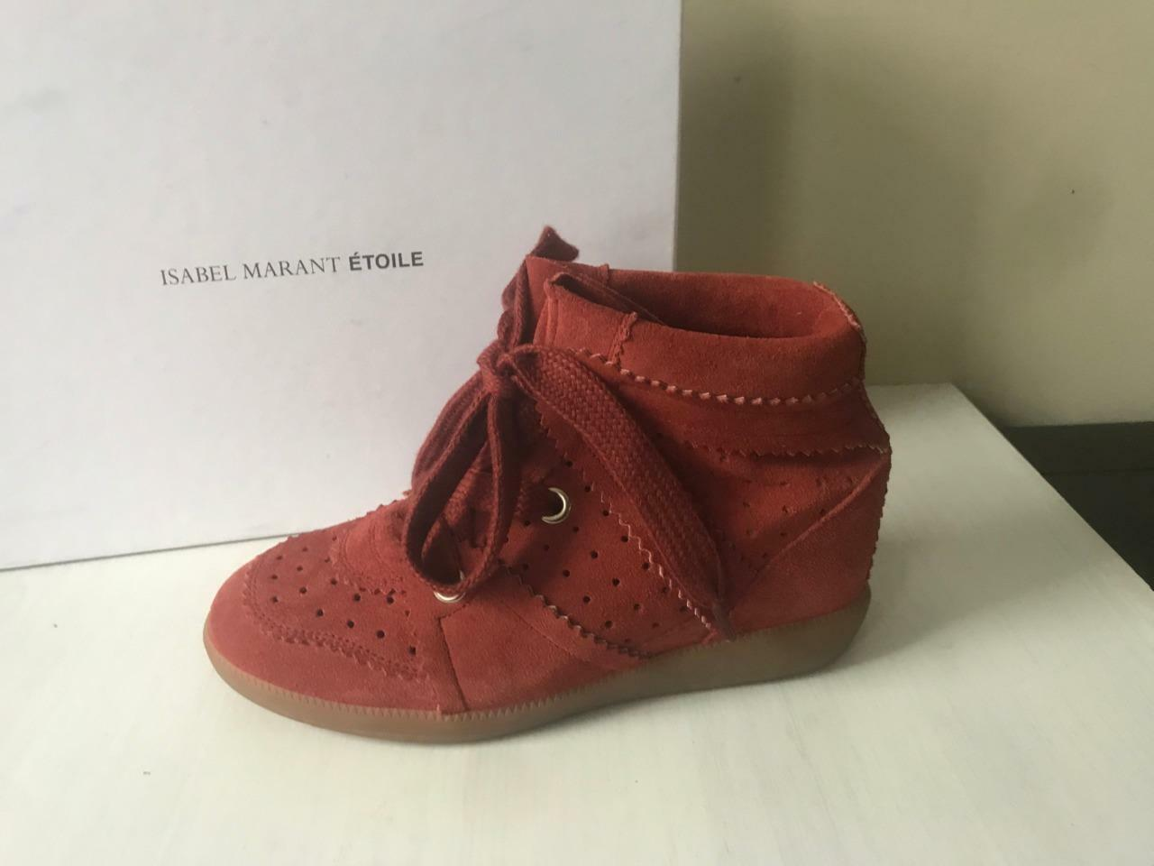 Isabel Marant Etoile Etoile Etoile Bobby Suede Wedge Sneaker Ankle Bootie Boots shoes  600 a93952
