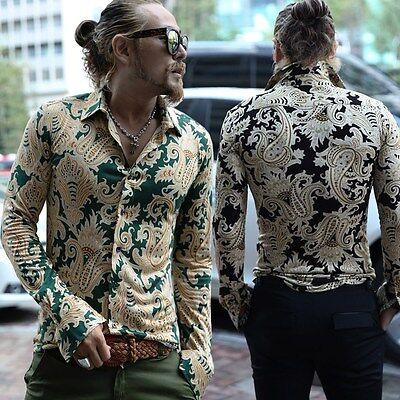 ByTheR Men's Unique Luxury Paisley Patterned Slim Fit Stylish Shirt  P000BEVU