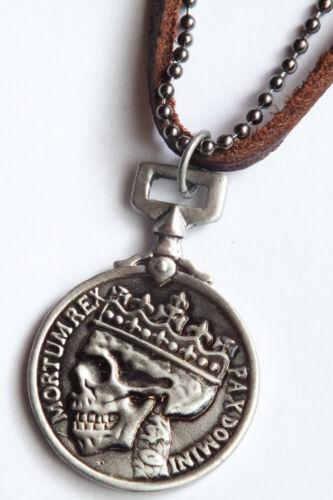 halskette,totenkopf,skulls,lederband,metall,herren,taler,herrenkette,Dead king