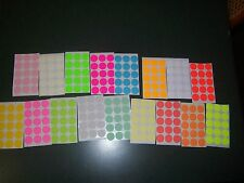 270 Blank rummage garage yard sale stickers labels price tags tabs 18 colors