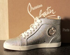 detailed look c431c 8e3c3 Details about NIB Christian Louboutin BIP BIP WOMAN SILVER ORLATO LUREX  HIGHTOP SNEAKER 36.5