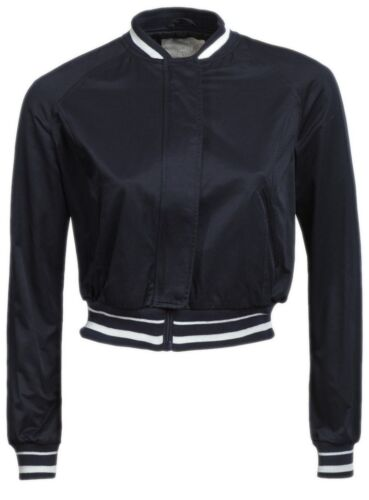 New Womens ladies navy Summer bomber jacket Size 12 14