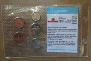 GIBRALTAR-5-UNCIRCULATED-COINS-IN-PLASTIC-COVER