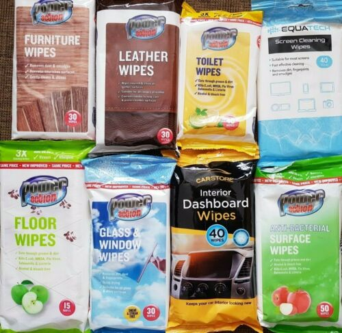 Cleaning Wipes Glass Furniture Leather Toilet Car Floor Screen FREE Fast Delivry