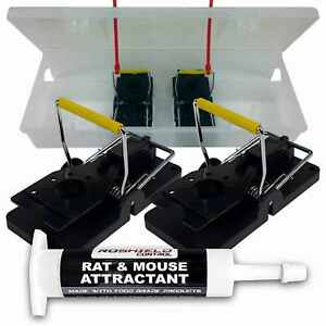 Roshield 10 x Duo+ Double Mouse Trap Control Kit with Bait Attractant