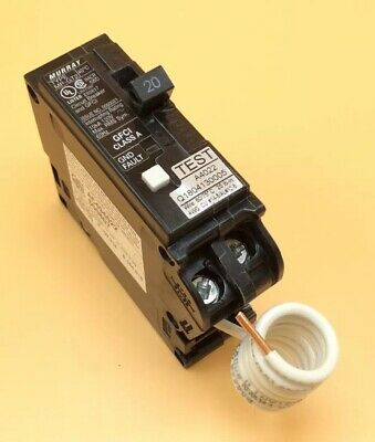 New Circuit Breaker Siemens QF120A 20 Amp 1 Pole Self Test GFCI Type QPF2 QF120
