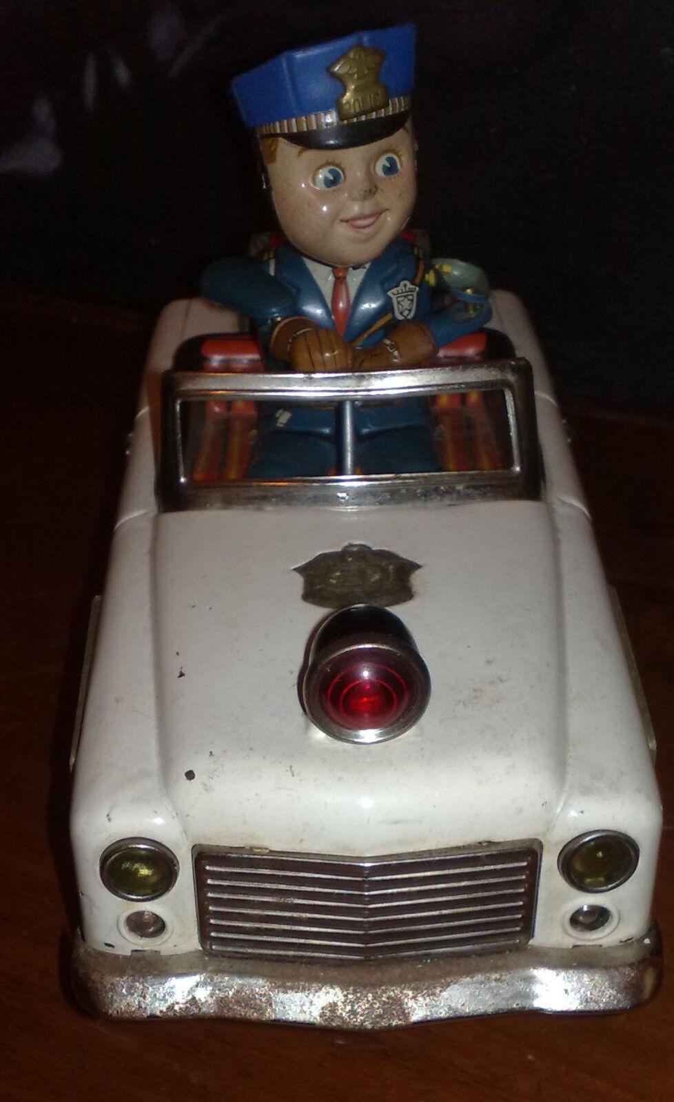 MODELLO in latta auto polizia primi anni 60