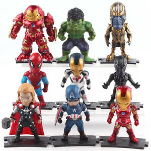 Marvel-Avengers-Thanos-Hulkbuster-Captain-America-PVC-Figure-Set-Model-Toy