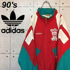 cc69429fc2a2 adidas Liverpool 90 s Vintage Jersey Nylon Jacket Size M Rare From ...