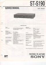 Sony-st-s190 - Service Manual-b2922