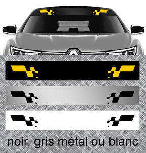 bande pare soleil pour renault sport clio megane autocollant sticker bd572 ebay. Black Bedroom Furniture Sets. Home Design Ideas