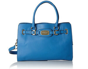 687a256a8db6 Michael Kors Hamilton Large East West Heritage Blue Leather Tote NWT ...