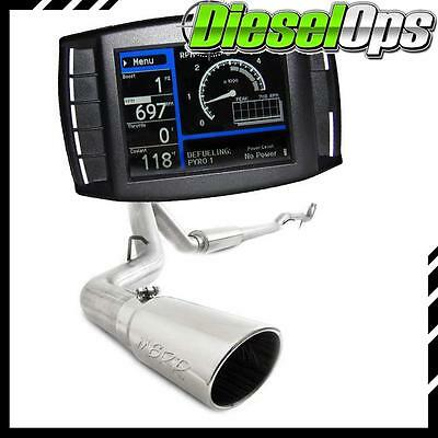 "H&S Mini Maxx Tuner MBRP 4"" Downpipe-Back Exhaust for GM Duramax 6.6L 11-14"