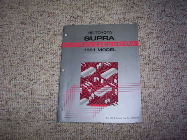1991 Toyota Supra Electrical Wiring Diagram Manual Twin