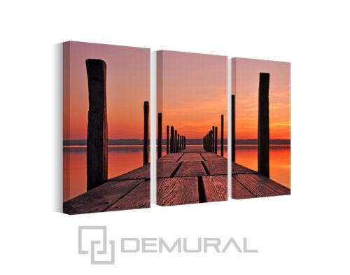Wandbilder Landschaft B3D131 Bild Leinwand Bilder Steg am Ammersee
