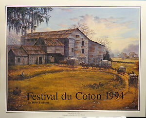 /'Vision of the Past 1994/' historical gin Louisiana Print for Cotton festival