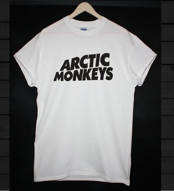 ARCTIC MONKEYS T SHIRT  -   WHITE & BLACK   - ALL SIZES !!!