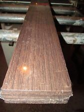"TWO (2) SQUARE FEET THIN KILN DRIED SANDED WENGE 12"" X 3"" X 1/4"" LUMBER WOOD"