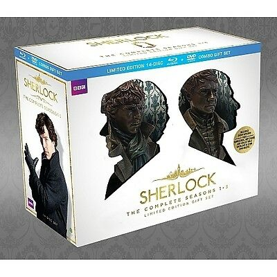Sherlock Complete Season 1-3 ~ NEW LIMITED EDITION 14-DISC BLU-RAY & DVD SET