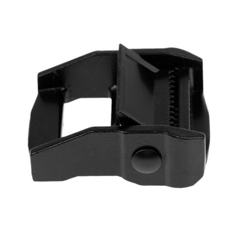 Zurrgurte Gurtband Schnalle schwarz 38mm Aluminium Schnallen für Spanngurte