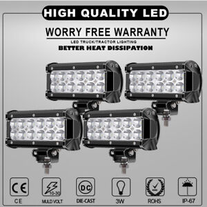 4x-7inch-36W-LED-Light-Bar-Spot-Offroad-4WD-ATV-Fog-Boat-Driving-Truck-Light-12v