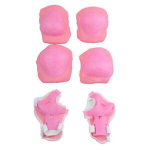 Pour-Enfants-Rose-blanc-tampons-protecteurs-pour-Genou-coude-paume-Protecte-H5U9