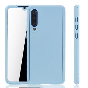 Xiaomi-Mi-9-Se-Custodia-Cover-per-Cellulare-Protettiva-Bumper-Pellicola-Blau