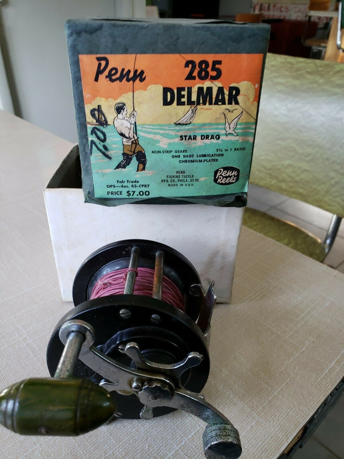 Penn  Delmar No. 285 Vintage Fishing Reel pre owned  on sale