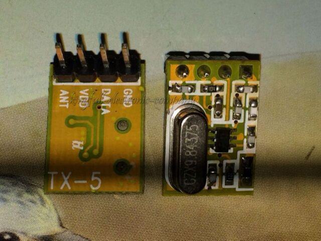 Super-heterodyne RF Wireless Transmitter Module 433MHZ TX5 Without Coding Good