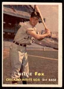 1957 Topps Set Break2 EX Mt Nellie Fox Chicago White Sox #38