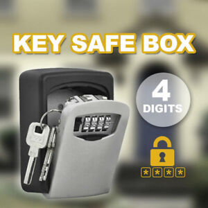 Wall-Mounted-High-Security-Steel-Storage-4-Digit-Key-Box-With-Combination-Lock
